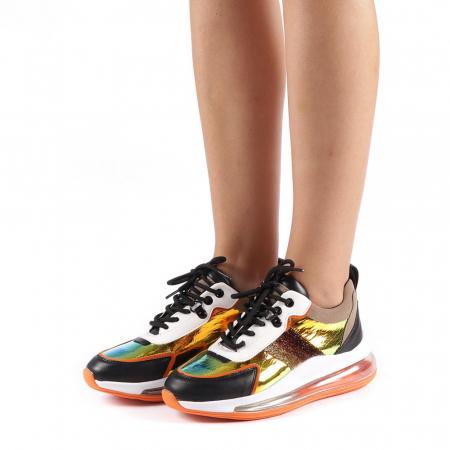 Pantofi sport dama Tamina portocalii1