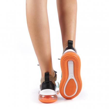 Pantofi sport dama Tamina portocalii2