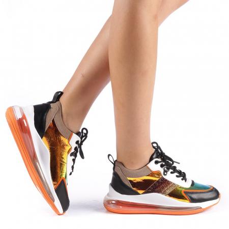 Pantofi sport dama Tamina portocalii0