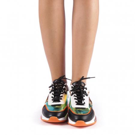 Pantofi sport dama Tamina portocalii3