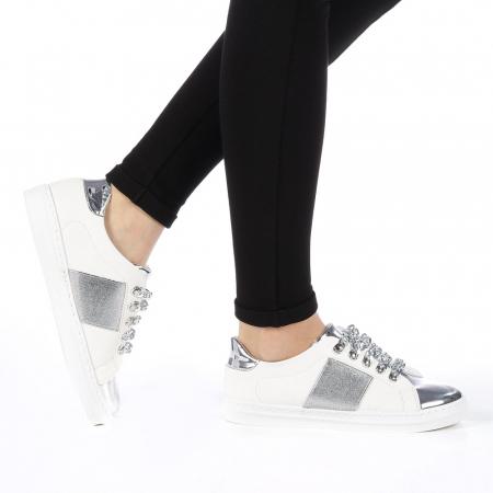 Pantofi sport dama Tarina albi0