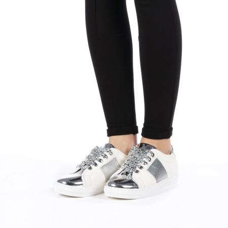 Pantofi sport dama Tarina albi1