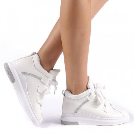 Pantofi sport dama Tasia albi0