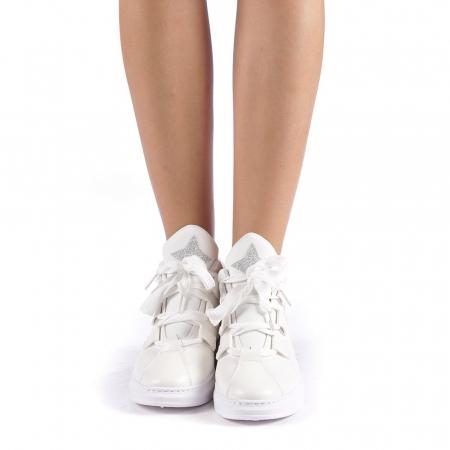 Pantofi sport dama Tasia albi3