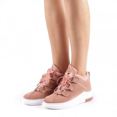 Pantofi sport dama Tasia roz1
