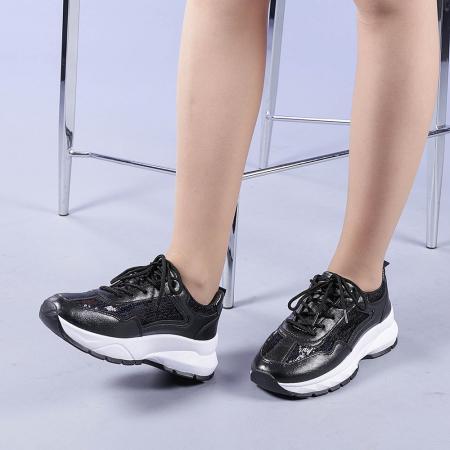 Pantofi sport dama Tazara negri2
