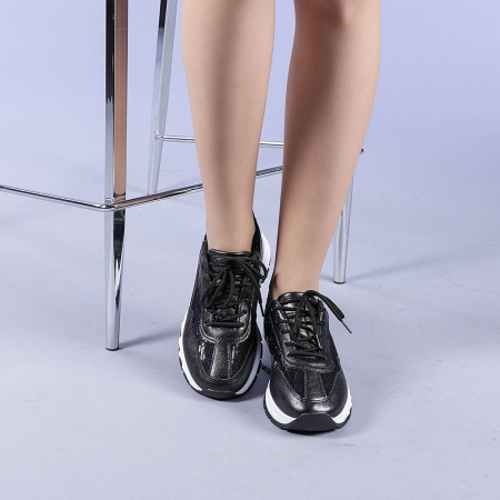 Pantofi sport dama Tazara negri1