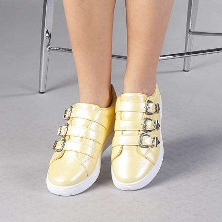 Pantofi sport dama Tess galbeni0