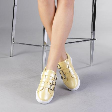 Pantofi sport dama Tess galbeni1