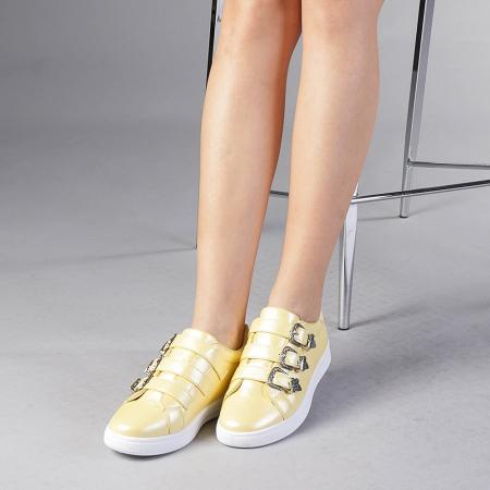 Pantofi sport dama Tess galbeni2
