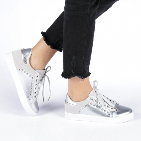 Pantofi sport dama Vera argintii0