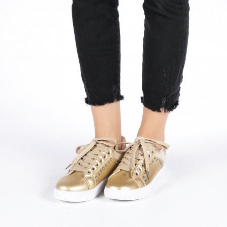 Pantofi sport dama Vera aurii3