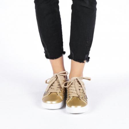 Pantofi sport dama Vera aurii1