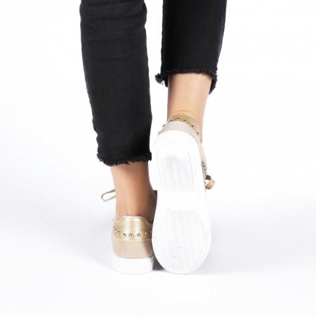 Pantofi sport dama Vera aurii2