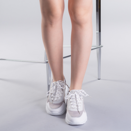 Pantofi sport dama Ylona gri1