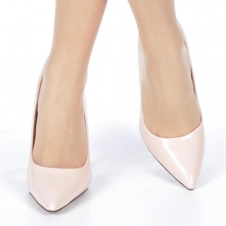 Pantofi stiletto Adelle roz1