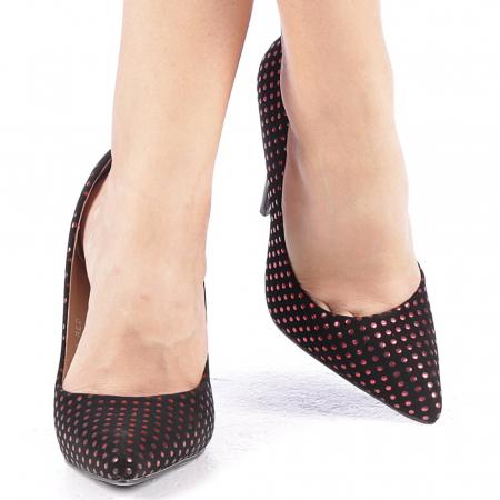Pantofi stiletto Anais rosii4