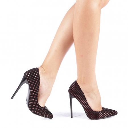 Pantofi stiletto Anais rosii0