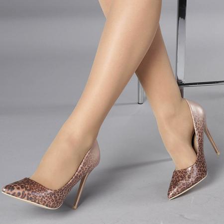 Pantofi stiletto Beatris sampanie0