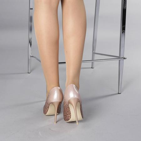 Pantofi stiletto Beatris sampanie3
