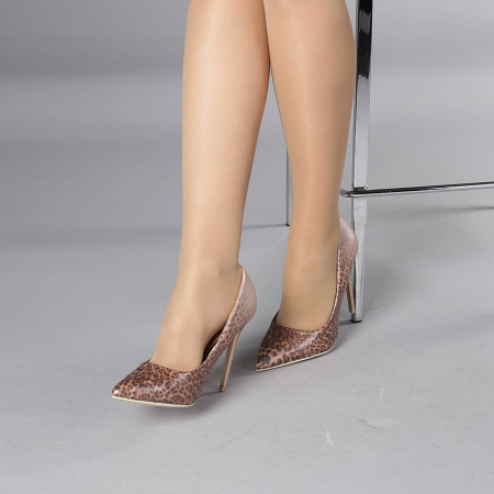 Pantofi stiletto Beatris sampanie2