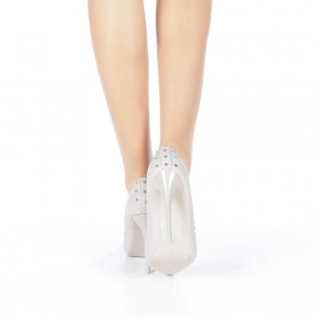 Pantofi stiletto Daiana gri3