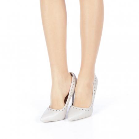 Pantofi stiletto Daiana gri2