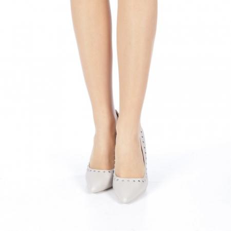 Pantofi stiletto Daiana gri4