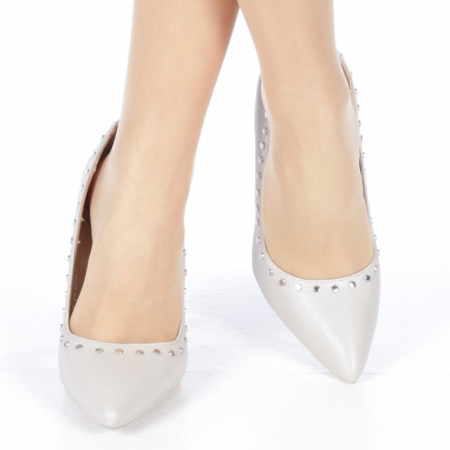 Pantofi stiletto Daiana gri1