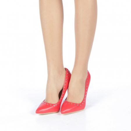 Pantofi stiletto Daiana rosii2