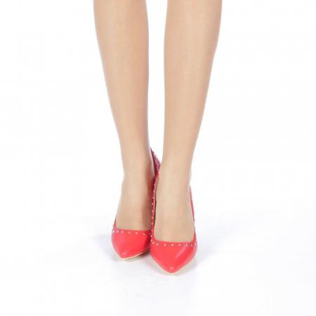 Pantofi stiletto Daiana rosii4