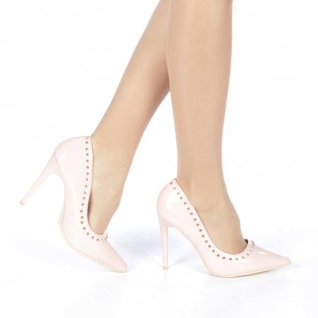 Pantofi stiletto Desiree roz0