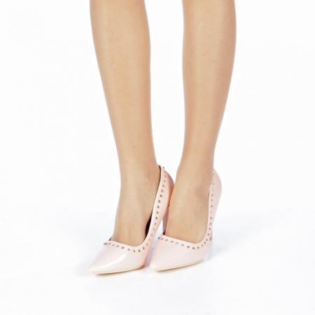 Pantofi stiletto Desiree roz2