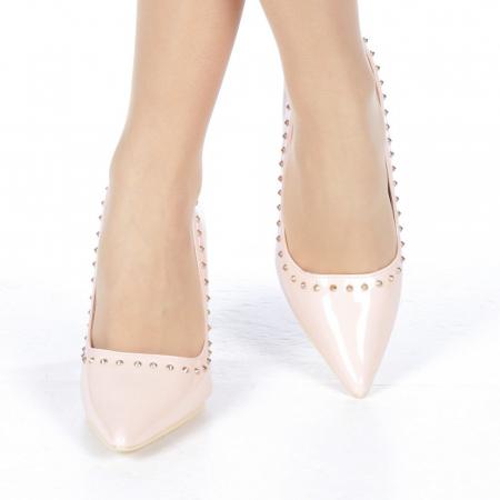 Pantofi stiletto Desiree roz1
