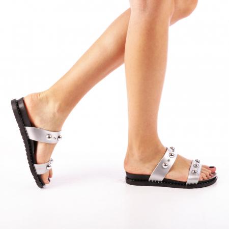 Papuci dama Agefia argintii0
