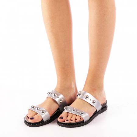 Papuci dama Agefia argintii4