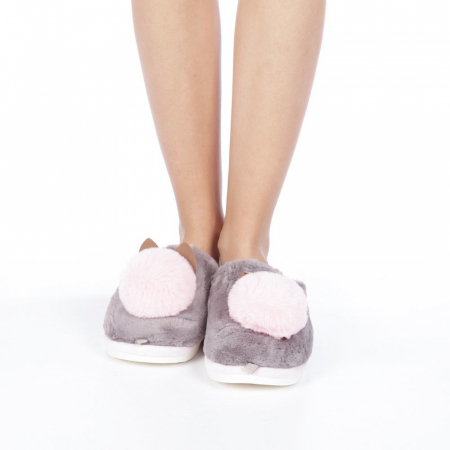 Papuci dama Amaya gri4