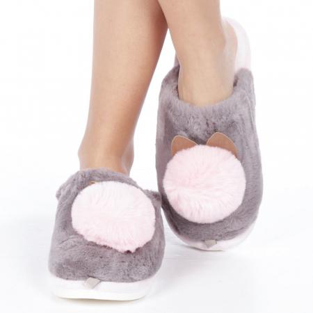 Papuci dama Amaya gri1