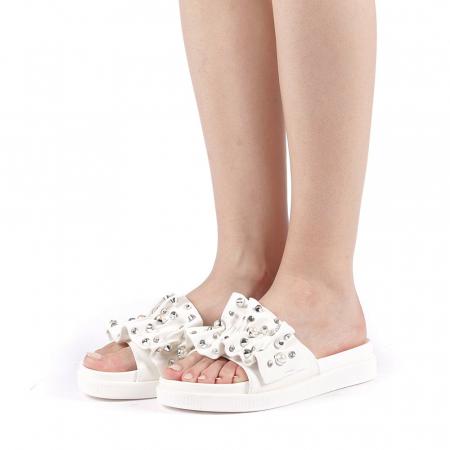 Papuci dama Cerine albi2