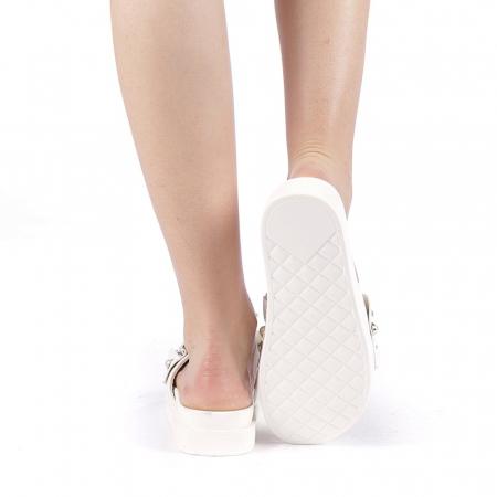 Papuci dama Cerine albi3
