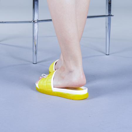 Papuci dama Corina galbeni3