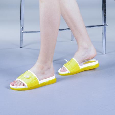 Papuci dama Corina galbeni0