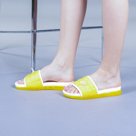 Papuci dama Corina galbeni2