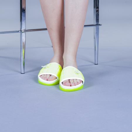 Papuci dama Corina verzi1