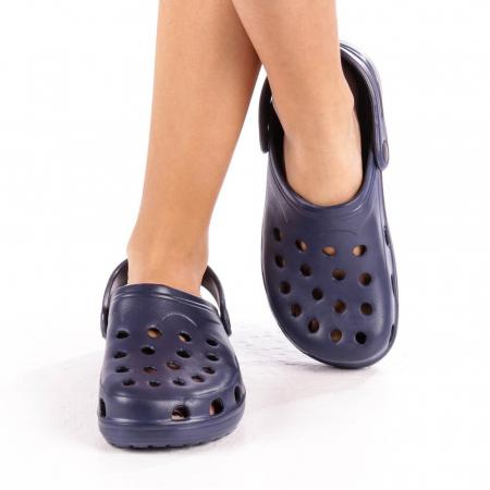 Papuci dama Edelline albastru inchis1