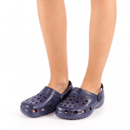 Papuci dama Edelline albastru inchis4