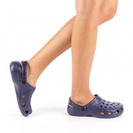 Papuci dama Edelline albastru inchis0