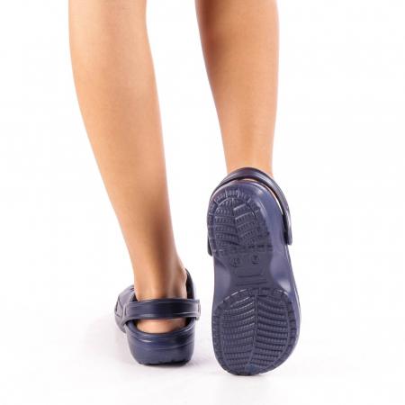 Papuci dama Edelline albastru inchis3