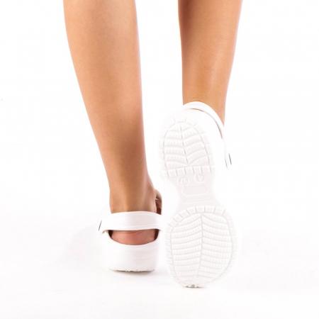 Papuci dama Edelline albi2