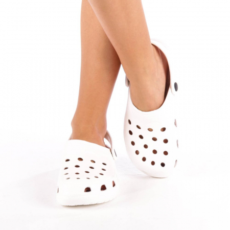Papuci dama Edelline albi4